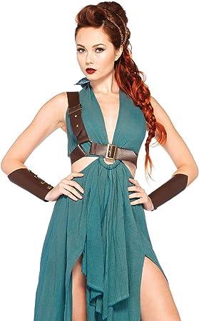 Leg Avenue Disfraz de 4 piezas Inocente Guerrero Verde Pequeño ...