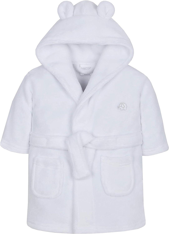 Soft Plush Flannel Fleece Hooded Bath Robe Ages 6-24 Months Metzuyan Baby Boys /& Girls Unisex Dressing Gown