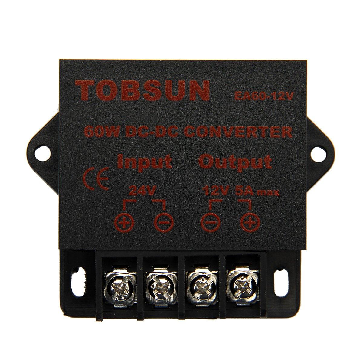 EPBOWPT Voltage Converter DC 24V36V 48V to 12V Buck Converter (24V to 12V 5A, 24V to 12V 60W)