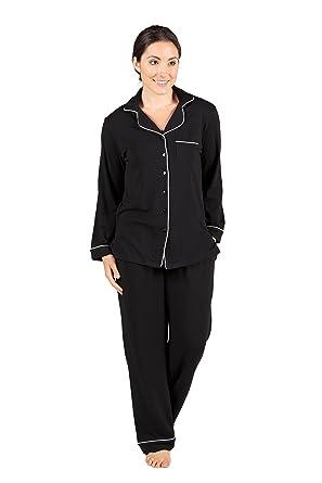 Texere Women's Button-Up Sleepwear Set (Classicomfort) Eco ...