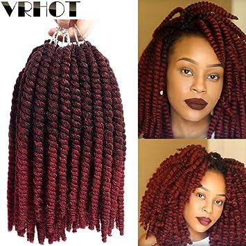 Amazoncom Vrhot 8 6packs Afro Kinky Twist Crochet Hair Ombre