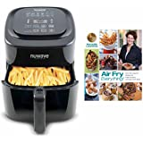 Nuwave 6 qt Brio Air Fryer Black with Air Fry Everything Cookbook