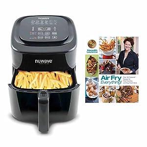 "Nuwave 6 qt Brio Air Fryer Black w/ ""Air Fry Everything"" Cookbook"