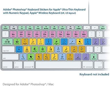 Adobe Photoshop CS Laptop Keyboard Stickers: Amazon.es ...