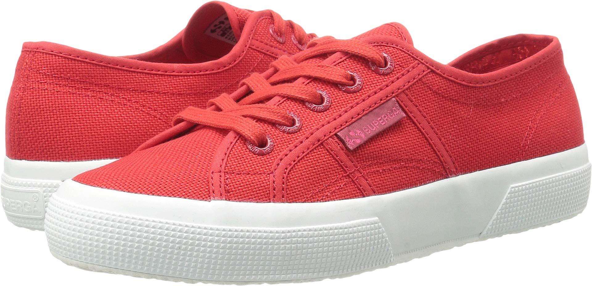 Superga Women's 2750 Cotu Sneaker, Red Full White, 38 M EU (7.5 US)