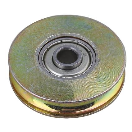 BQLZR 6,4 x 38 x 8.3 mm amarillo plateado galvanizado color acero Tile pasivo redondo ...
