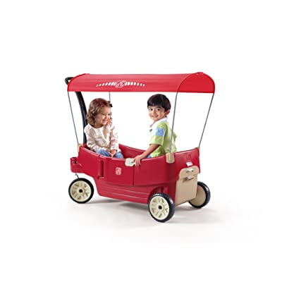 Step2 All Around Canopy Wagon, Red: Toys & Games