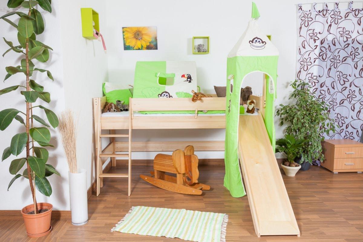 Etagenbett Lukas Anleitung : Kinderbett hochbett tom mit rutsche und turm inkl. rollrost