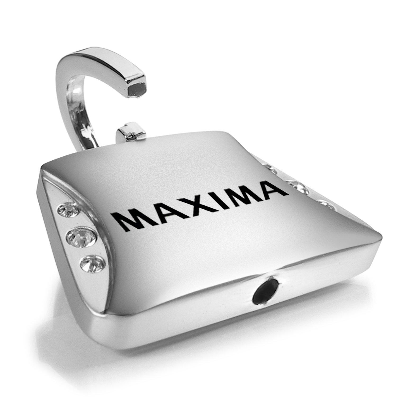 Nissan Maxima Clear Crystals Purse Shape Key Chain Au-Tomotive Gold INC