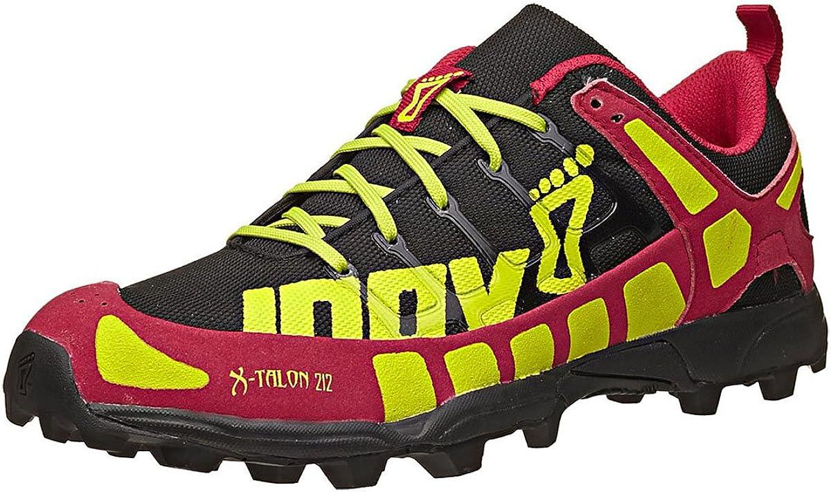 Inov-8 Mujer X-Talon 212 Zapatilla de Trail Running, Negro/Baya/Lima: Amazon.es: Deportes y aire libre
