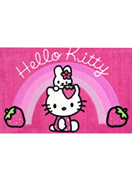Hello Kitty Tapis Chambre Lapin Rose Tapis Enfant Et Disney