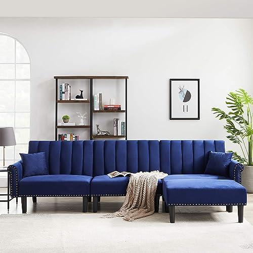 LinkRomat Convertible Sectional Sofa