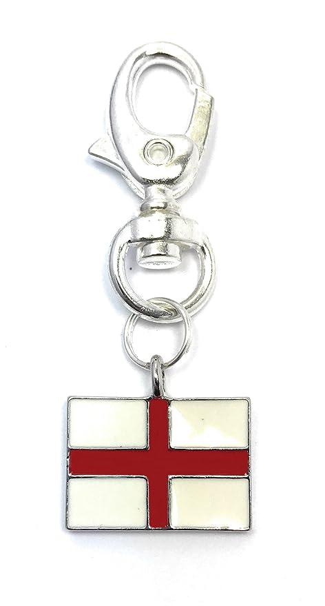 Llavero con la bandera de Inglaterra y la cruz de San Jorge ...