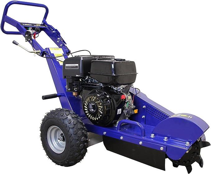 T-Mech - Triturador de Tocones Descepadora 13HP para Cortar Tocones de Árbol y Raíces para Jardineros Profesionales, Paisajistas y Aficionados