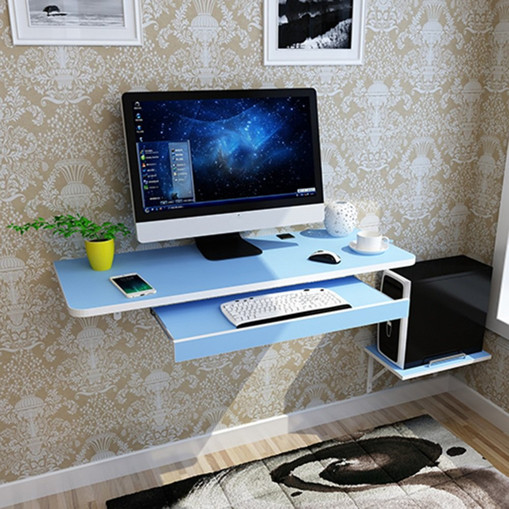 QING MEI Simple Computer Desk Creative Wall-mounted Computer ...