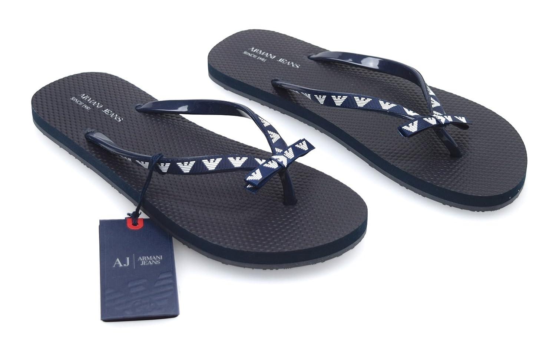 8867c547574b Armani Women s Flip Flop Sandals blue Size  4  Amazon.co.uk  Shoes ...