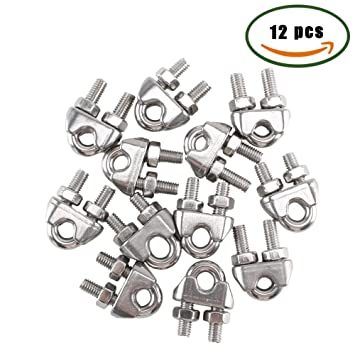 Amazon.com: Wire Rope Clips ManYee M6 1/4\