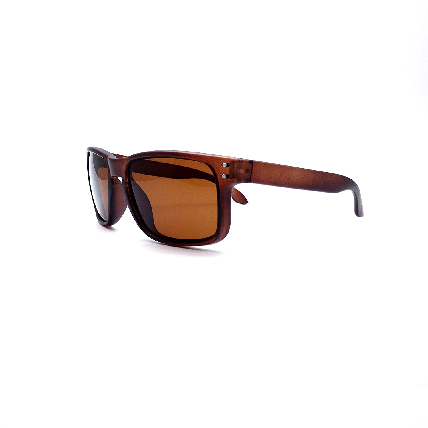 61ff6752f0ce7 Amazon.com  Polarized Lens Mens Square Rectangular Holbrook Style Sport  Sunglasses + Free Case  Clothing