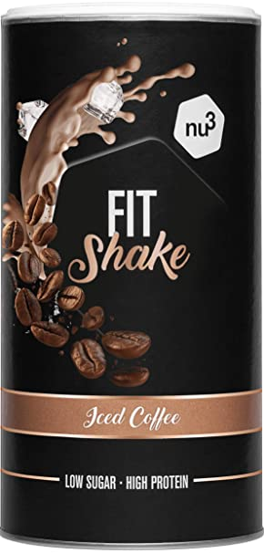 nu3 Fit Shake sabor Café Helado I 450g I 71% de proteína de leche y ...