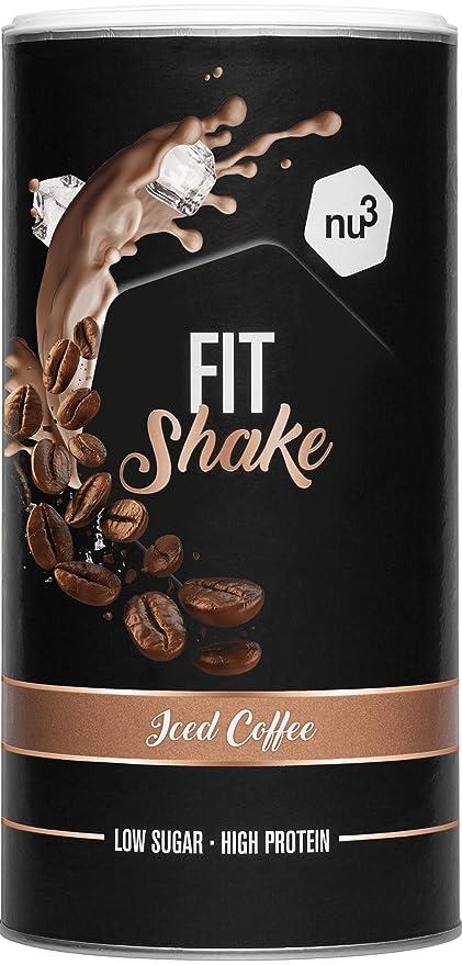 nu3 Fit Shake sabor Café Helado I 450g I 71% de proteína de ...