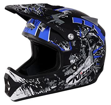 Nitro Extreme MX Casco Negro/Azul Pequeño