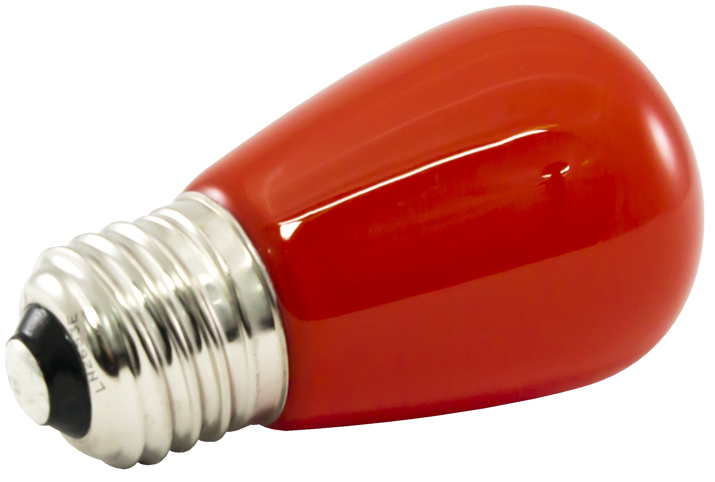 American Lighting PS14F-E26-RE Professional LED S14 Light Bulbs, Dimmable, Ceramic Lens, 1.4-Watts, 120V, Red, 25-Pack