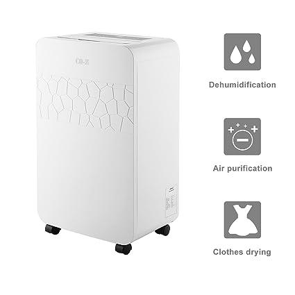 co-z electrónico portátil deshumidificador purificador de aire/filtro 70 pinta para espacios pequeños