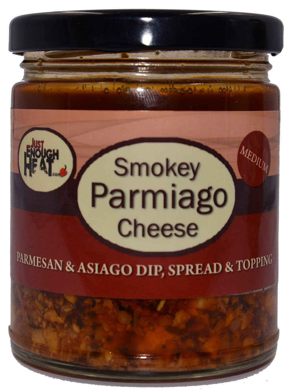 Smokey Parmiago Cheese - Parmesan & Asiago Marinated Cheese Dip, Spread & Topping by Just Enough Heat