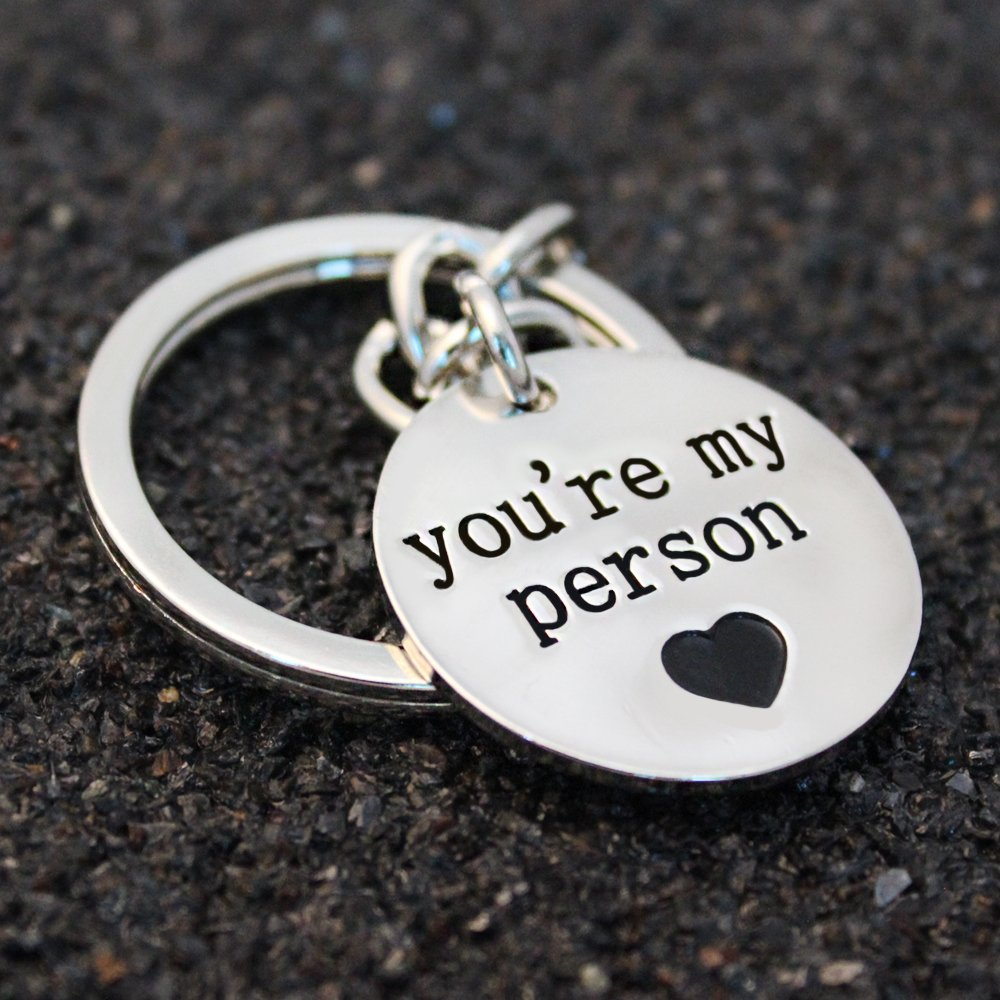 lauhonmin BBF Key Chain Ring You are my person Pendant Friendship Gift for Best Friends Women Men