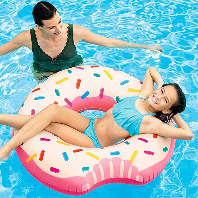 Intex 56265NP - Rueda hinchable Donut de fresa 107 x 99 cm: Amazon ...