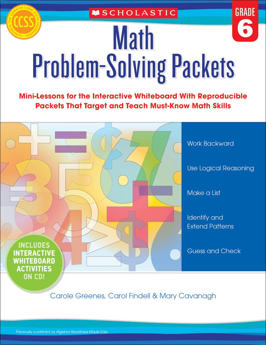 Math Problem-Solving Packets: Grade 6: Mini-Lessons for the ...