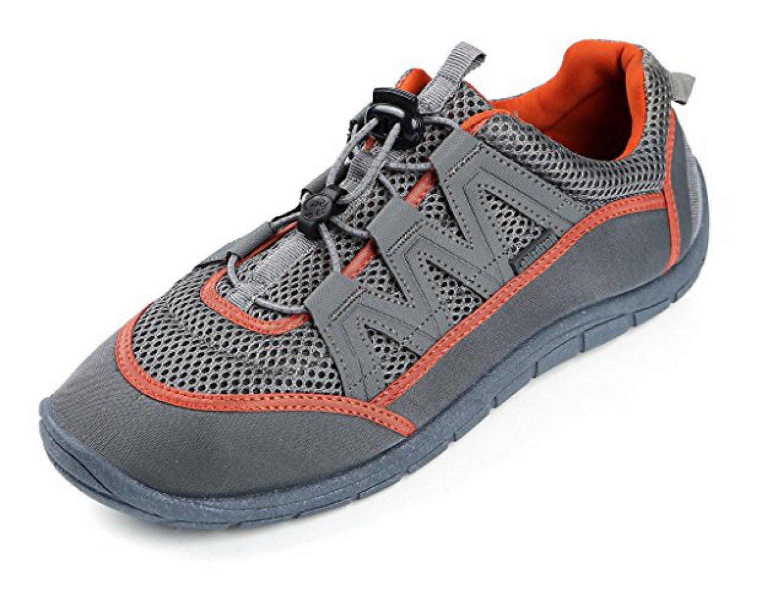 Northside Men's Brille II Summer Water Shoe, Charcoal/Orange, 13 D(M) US; with a Waterproof Wet Dry Bag