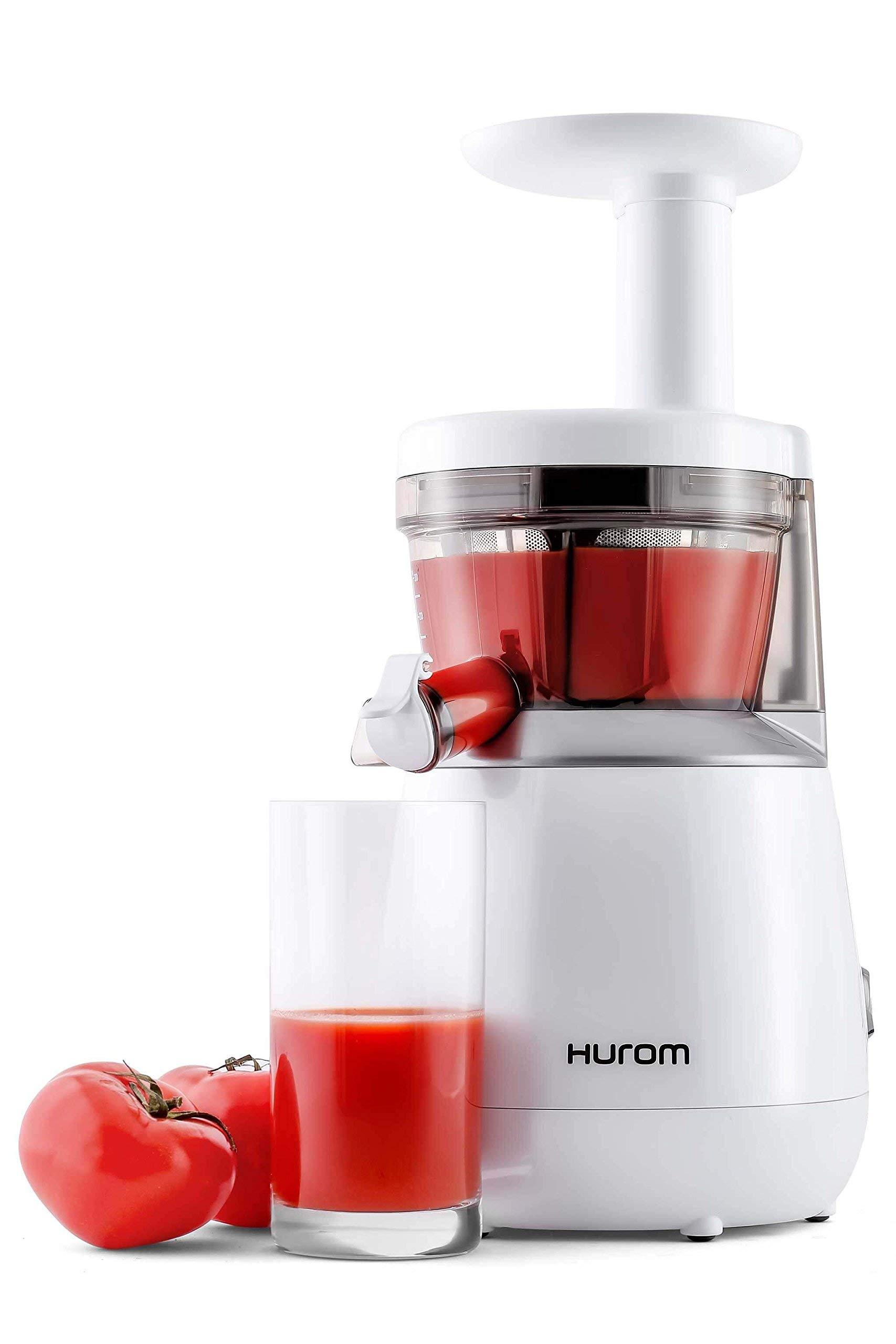 Hurom HP Slow Juicer, White (Renewed) by Hurom