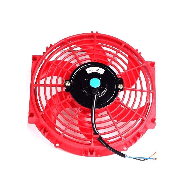 12 inch Slim Fan Push Pull Electric Radiator Cooling Fans 12V Mount Kit Unversal Black