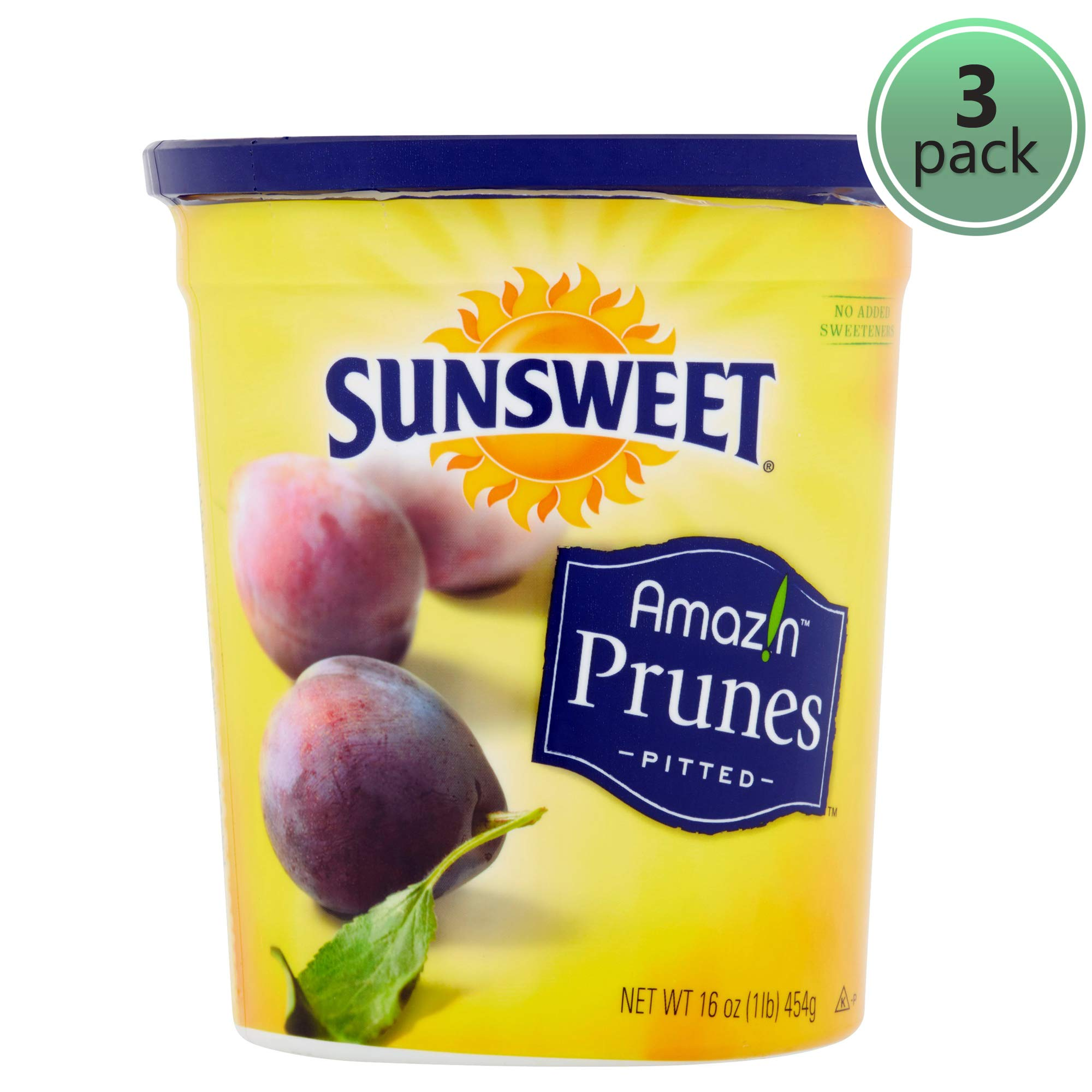 SUNSWEET Amazin Pitted Prunes, 16 oz - Pack of 3 by Sunsweet