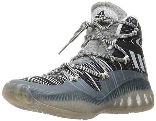 adidas performance uomini pazzi esplosivo basket scarpa, grigio / bianco