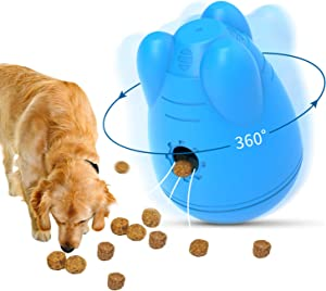 SunteeLong Pet Dog Slow Feeder Puzzle Treat Balls Interactive Toys Tumbler Automatic Food Dispensing Ball Pet Treat Bowl Medium and Large Dogs Chase Chew Play Toys
