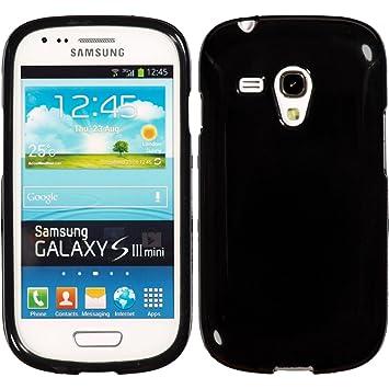 PhoneNatic Funda de silicona para Samsung Galaxy S3 Mini - Candy negro - Cover Cubierta Cover