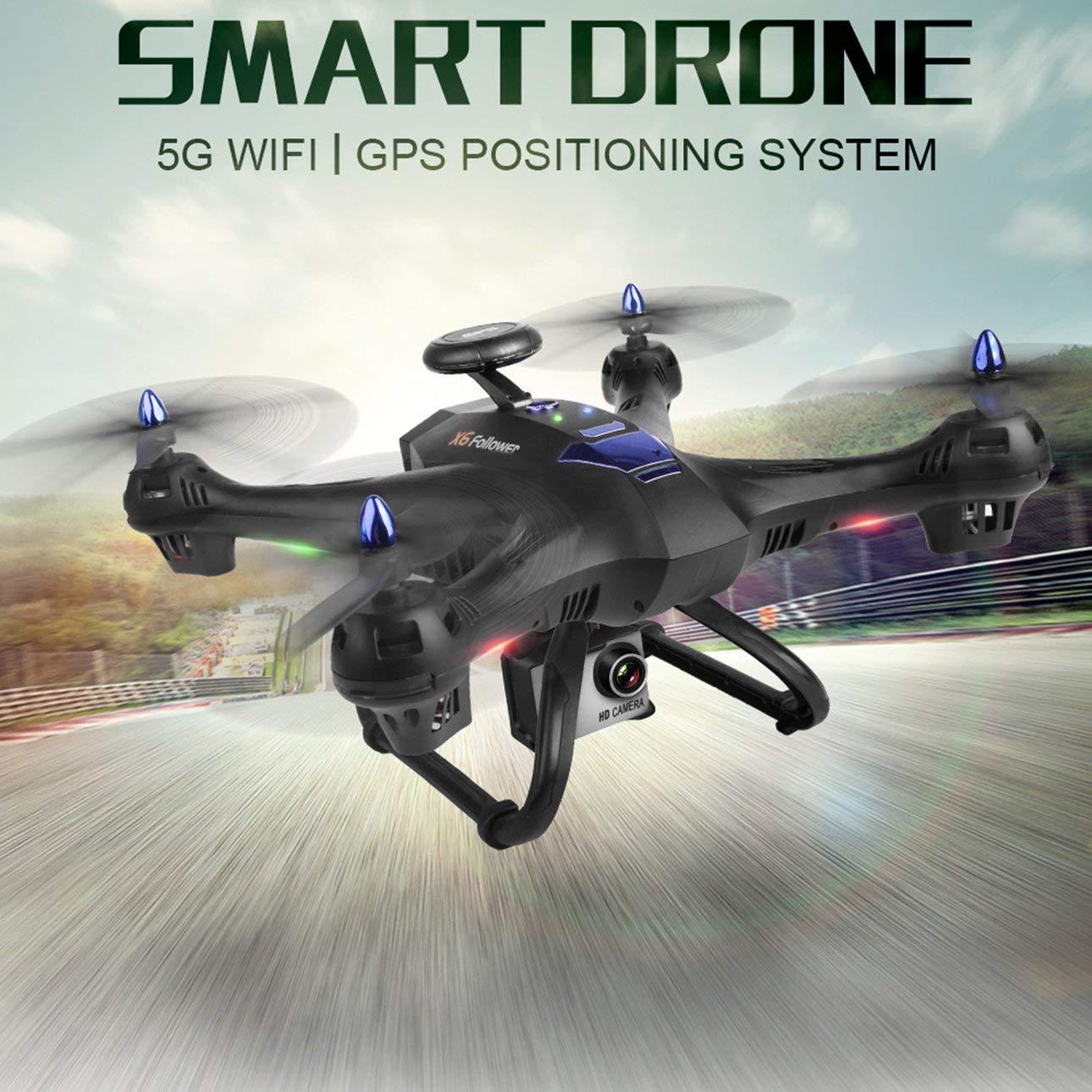 Ballylelly Drone con Fotocamera X183S RC Drone con 1080P 5G Camera Altitude Hold Senza Testa GPS Quadrocopter Nero