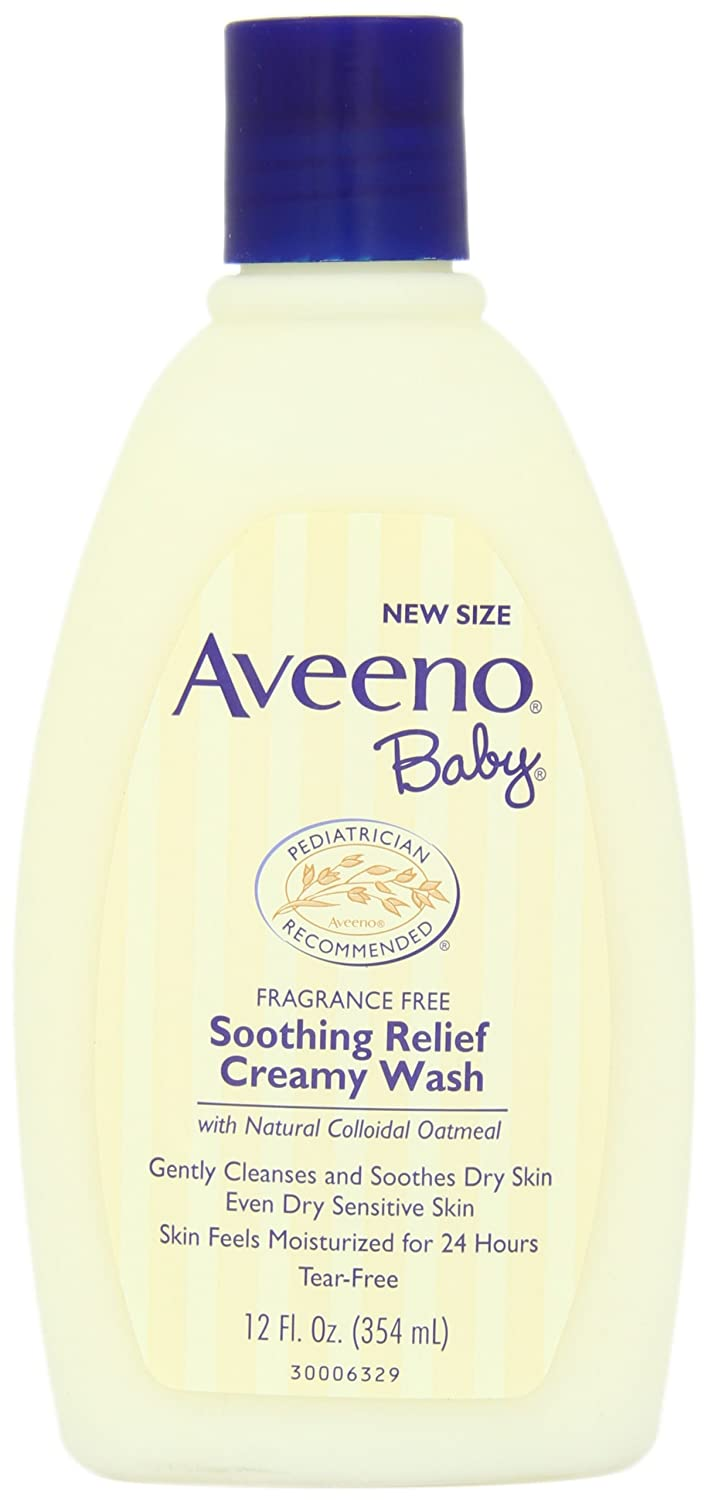 Aveeno Baby Soothing Relief Creamy Wash For Dry Sensitive Skin, 12 Fl. Oz. (Pack of 2) 381371023943