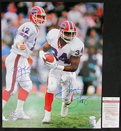e37c5d864 Image Unavailable. Image not available for. Color  Jim Kelly and Thurman  Thomas Buffalo Bills Signed ...