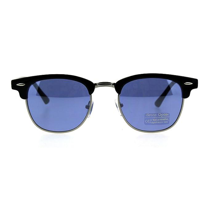Amazon.com: Gafas de sol retro para hombre, diseño de media ...
