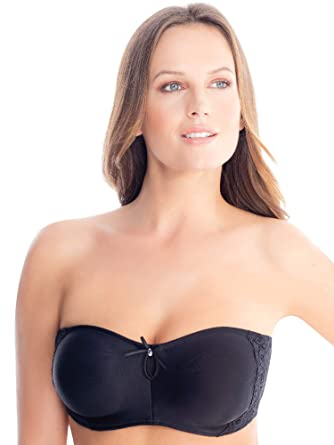 eb055acaac Ilusion women smooth full coverage strapless bra plus sizes from to and up  to cup size