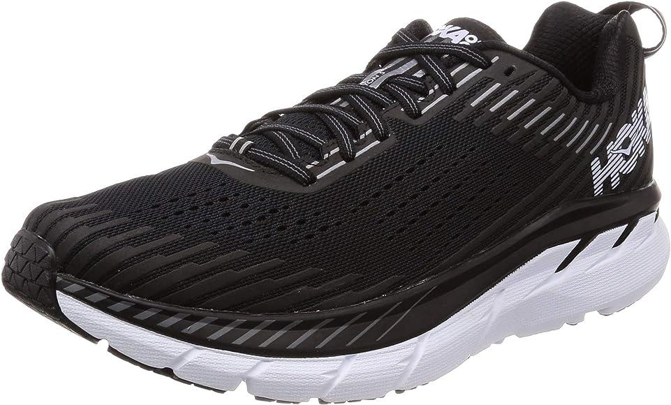 ddbdd6fb652f Amazon.com | HOKA ONE ONE Men's Clifton 5 Running Shoe Black/White 8 ...