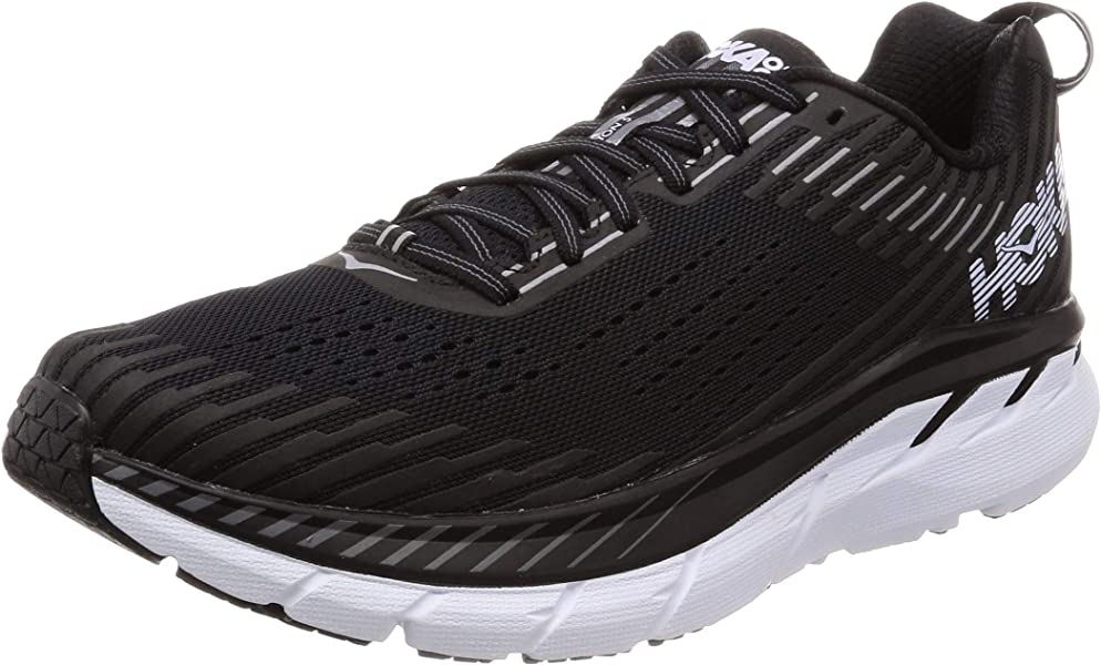 46b30d7d772c HOKA ONE ONE Men s Clifton 5 Running Shoe Black White 8