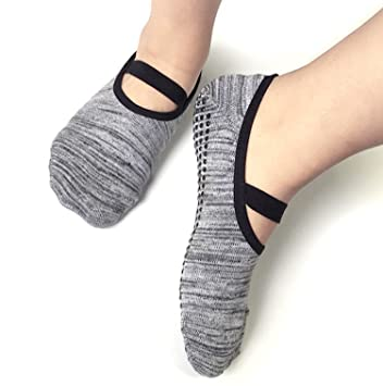 Asking calcetines yoga y pilates antideslizantes puño del algodón de la danza, deporte de todo