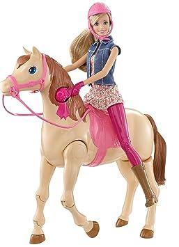barbie cmp27 poupe mannequin barbie hop a cheval - Barbie Cheval