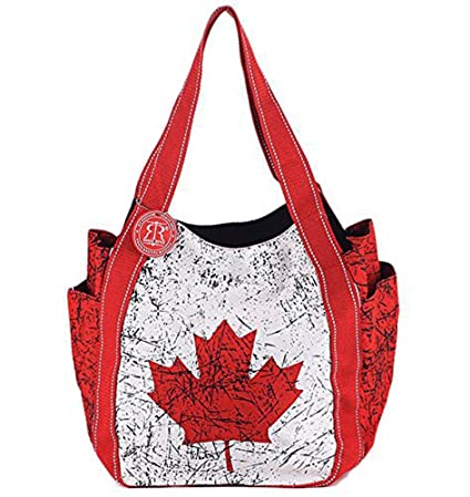 e5651401bb8 Classic Vintage Canada Flag Shoulder Bag - Durable Tote Bag for Shopping,  Work, School