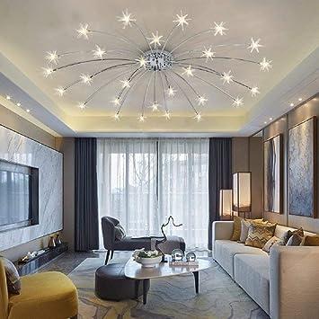 WOF Plafonnier LED Plafonnier éclairage Salon Lampe Chambre à Coucher Avec  Ampoule LED 1.5W (