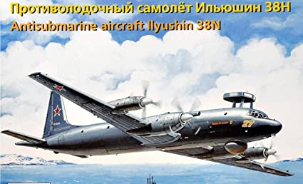 Amazon.com: Plástico Modelo Avión il-38 N antisubmarine ...